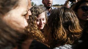 L'activiste Ahed Tamimi de retour dans son village de Nabi Saleh, en Cisjordanie, le 29 juillet