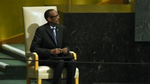 Le président rwandais Paul Kagame à la 70e assemblée générale de l'ONU à New York, le 29 septembre 2015.
