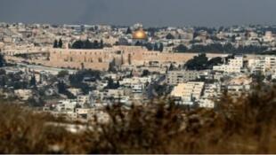 حي جبل المكبر الفلسطيني في القدس الشرقية المحتلة حيث تقع مستوطنة نوف تسيون