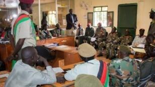 محكمة عسكرية جنوب سودانية تصدر الحكم على عشرة جنود في 6 أيلول/سبتمبر 2018 في جوبا