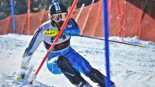 Yohan Goutt Goncalves lors d'une compétition de ski