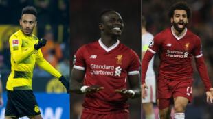 Pierre-Emerick Aubameyang, Sadio Mané et Mohamed Salah sont les trois finalistes pour le Ballon d'Or africain 2017.