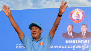 Hun Sen, ici à Phnom Penh, le 27 juillet 2018, est devenu Premier ministre du Cambodge en 1985.