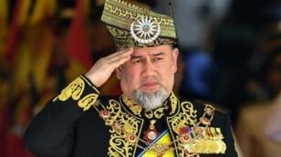 الملك سلطان محمد الخامس في صورة التقطت في 17 يوليو/تموز 2018 في كوالالمبور