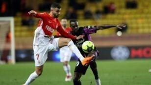 رشيد غزال في مباراة فريقه موناكو أمام بوردو على ملعب لويس الثاني في موناكو، 2 آذار/مارس 2018.