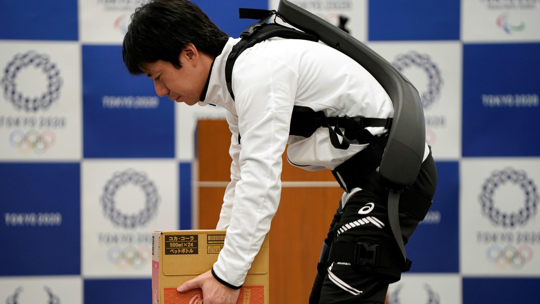 El traje de fuerza asistida de Panasonic.