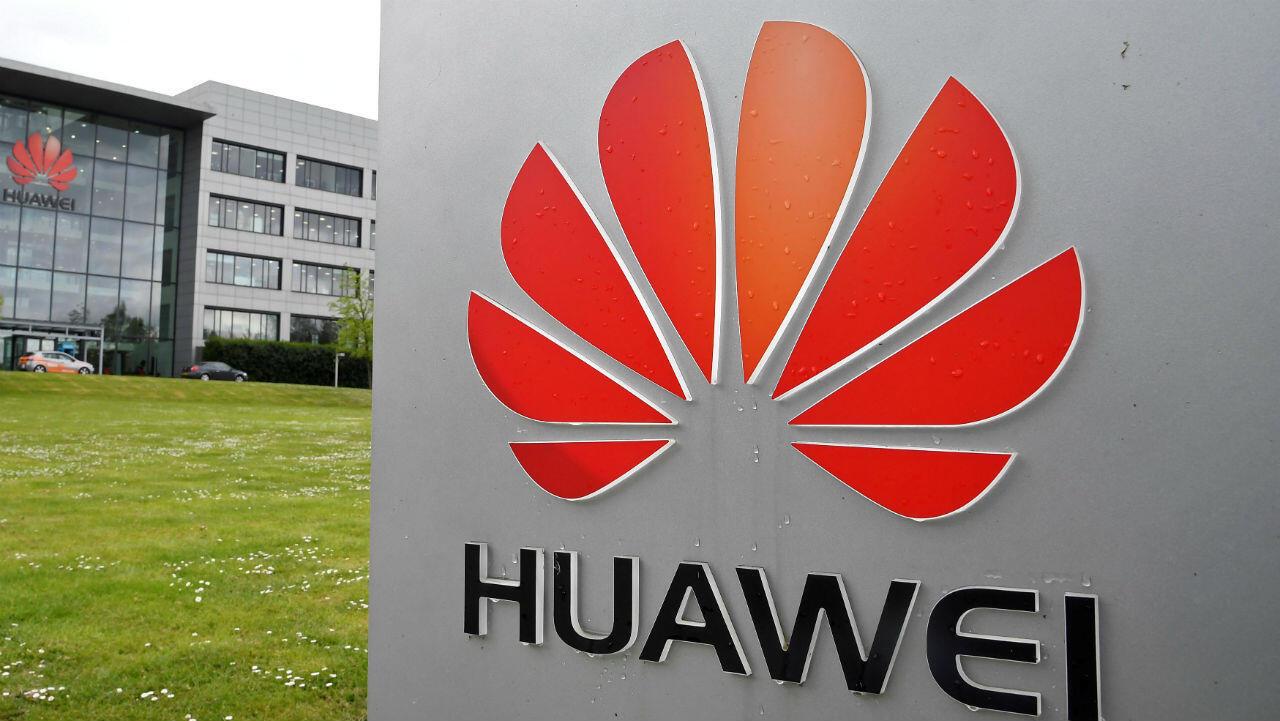 La fachada de las oficinas de Huawei en Reading, Reino Unido, el 2 de mayo de 2019.