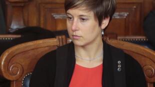 La présidente de l'Union syndicale des magistrats Céline Parisot à Paris le 15 novembre 2013