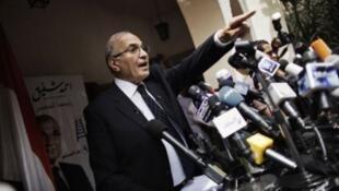 أحمد شفيق خلال حملة الرئاسيات المصرية عام 2012