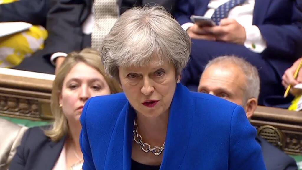 Theresa May, mercredi 20 juin 2018, à la Chambre des communes à Londres.