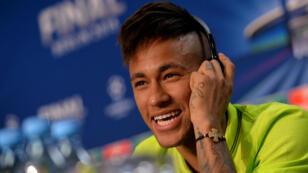 Le Brésilien du FC Barcelone Neymar en conférence de presse, vendredi 5 juin.