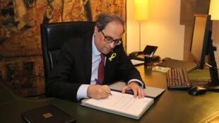 Le président catalan Quim Torra a signé un décret pour former un nouveau gouvernement, le 29 mai.