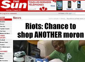 """""""L'opportunité d'attraper un autre imbécile"""", a titré jeudi le tabloïd The Sun."""