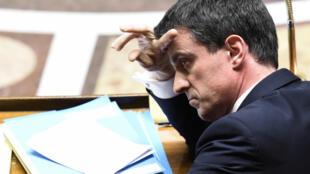 Le Premier ministre, Manuel Valls, lors des questions au gouvernement, le 5 mai 2015.