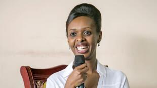 Diane Rwigara a annoncé sa candidature à la présidentielle de 2017, mercredi à Kigali.