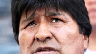 El presidente de Bolivia, Evo Morales, asiste a una ceremonia en el puerto de Jennefer, Santa Cruz, Bolivia, el 30 de octubre de 2018.