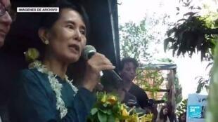 2021-03-31 14:12 Myanmar: Aung San Suu Kyi logró comunicarse con uno de sus abogados