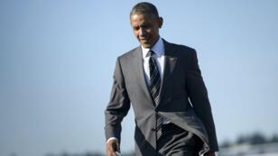 Barack Obama arrive à Portland, en Oregon, le 7 mai 2015.