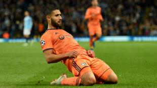 Le Lyonnais Nabil Fekir, auteur d'un but et d'une passe décisive face à Manchester City.