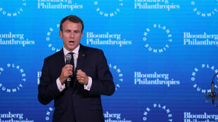 "Emmanuel Macron au ""One Planet Summit"" à New York, le 26 septembre."