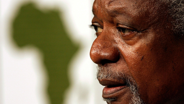 El ex secretario general de las Naciones Unidas, Kofi Annan, habla en el Foro Económico Mundial (WEF) en Ciudad del Cabo, el 5 de mayo de 2011.