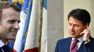 Emmanuel Macron reçoit le président du Conseil italien, Giuseppe Conte, vendredi 15 juin 2018, à l'Élysée.