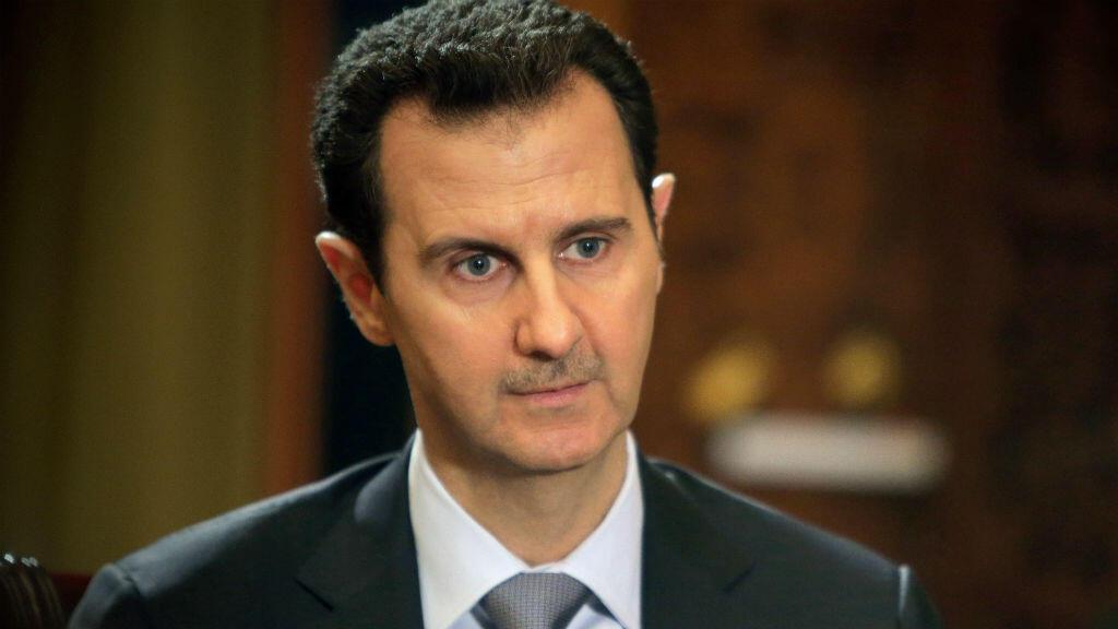 Portrait de Bachar al-Assad durant une interview avec l'AFP en janvier 2014.