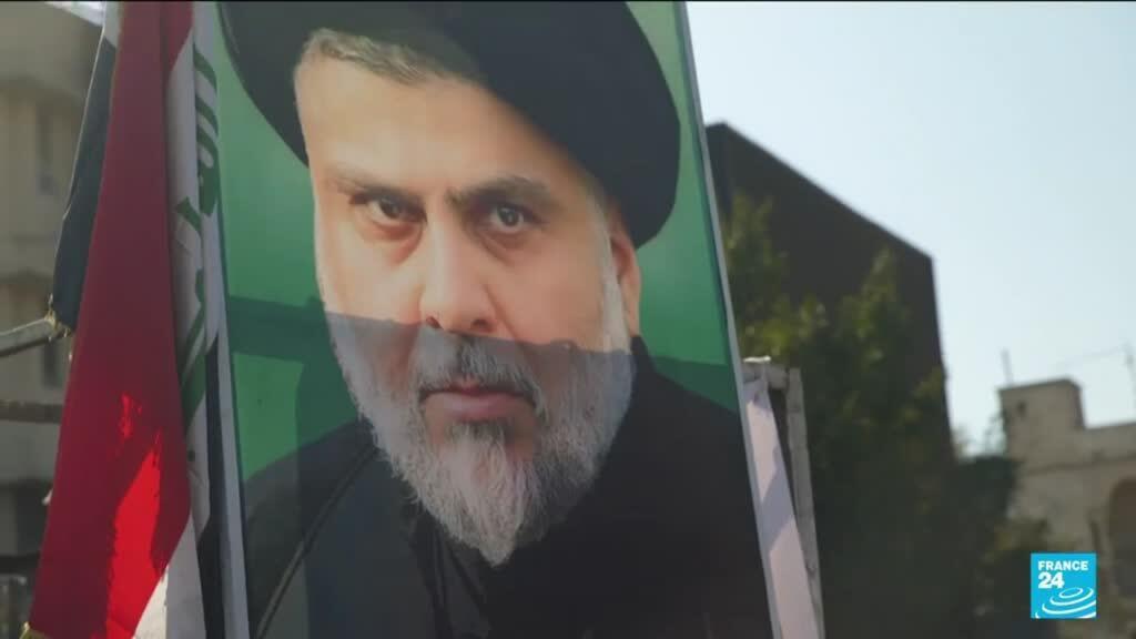 2021-10-12 10:01 Irak : portrait du leader chiite Moqtada al-Sadr, donné vainqueur des législatives