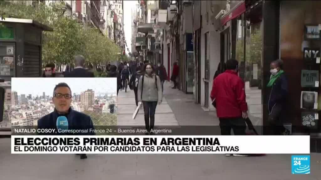 2021-09-11 19:10 Informe desde Buenos Aires: votaciones primarias definirán candidatos para las legislativas