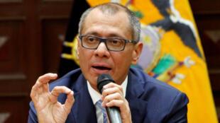 El vicepresidente de Ecuador, Jorge Glas, da una conferencia de prensa en Quito, Ecuador, 21 de agosto de 2017. REUTERS / Daniel Tapia