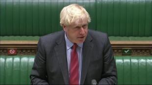 UK Prime Minister Boris Johnson addressing the House of Commons on Tuesday, September 22, 2020.