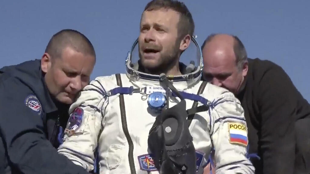 Russian filmmakers land back on Earth after 12-day shoot on ISS