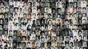 ملصق يحمل صور مفقودين في الحرب الأهلية في لبنان، 13 تشرين الأول/أكتوبر 2011