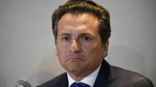 Emilio Lozoya, exdirector de la empresa estatal Pemex, niega las acusaciones vertidas en su contra en relación al caso Odebrecht el 17 de agosto de 2017 en una rueda de prensa en Ciudad de México