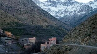 Mountains near the tourist village of Imlil, Morocco, on December 18, 2018