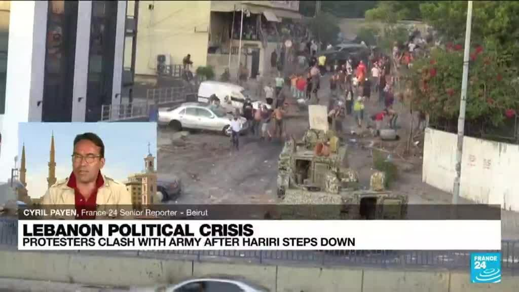 2021-07-16 17:11 Lebanon political crisis: protesters clash with army after Hariri steps down