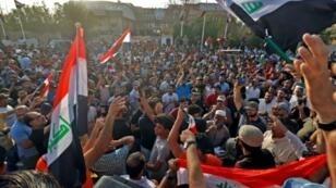 مظاهرة في البصرة احتجاجا على تدهور الأوضاع الاجتماعية في 13 تموز/يوليو 2018