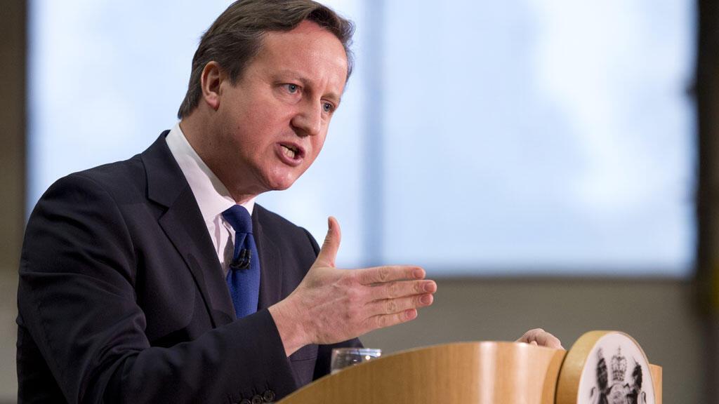 رئيس الوزراء البريطاني ديفيد كاميرون
