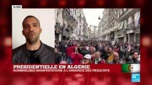 2019-12-13 14:23 Présidentielle en Algérie : nombreuses manifestations à l'annonce des résultats