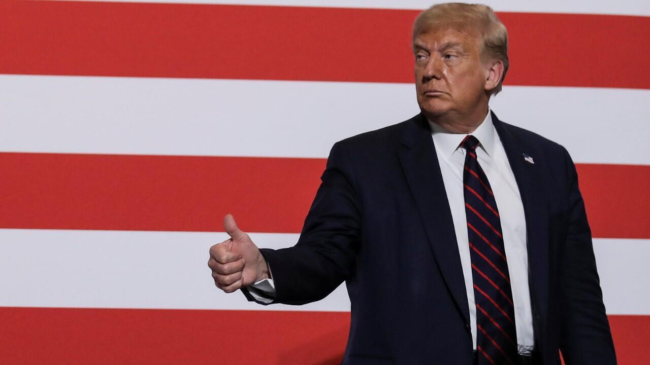 Donald Trump lors d'une sortie présidentielle le 30 juillet 2020.