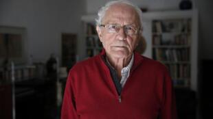 Zeev Sternhell, chez lui, à Jérusalem, le 2 février 2015 (archives).