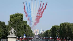 فرنسا تحتفل بالعيد الوطني بعرض عسكري ضخم في جادة الشانزليزيه 14 تموز/يوليو 2019