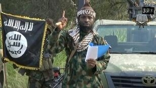 A screengrab of the Boko Haram extremist group leader Abubakar Shekau in 2014.