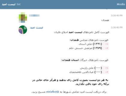 Une application développée par les réformateurs modérés sert à communiquer leurs consignes de vote sur Telegram.