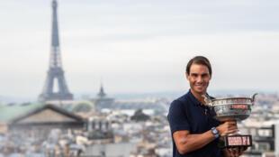 L'Espagnol Rafael Nadal à Paris le 12 octobre 2020