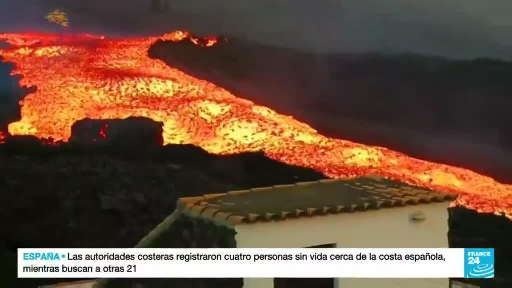2021-10-15 22:09 La lava sigue devorando a la isla española de La Palma