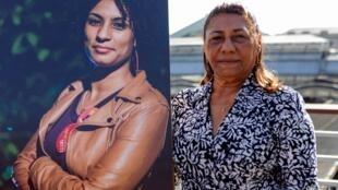 Marinette da Silva durante el homenaje a su hija, Marielle Franco, ofrecido el 21 de septiembre de 2019 en París, Francia, para recordar su lucha en favor de las minorías.