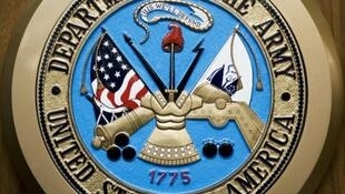 شعار القوات البرية للولايات المتحدة في البنتاغون في 24 شباط/فبراير 2009