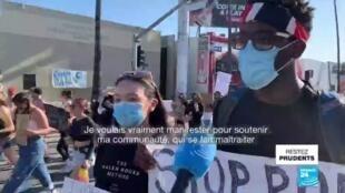 """2020-06-04 09:06 George Floyd - Manifestations à Los Angeles : """"C'est une question de droits de l'homme"""""""
