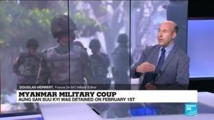 2021-02-15 16:00 Myanmar coup: Protests grow despite crackdown